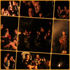 campfire collage